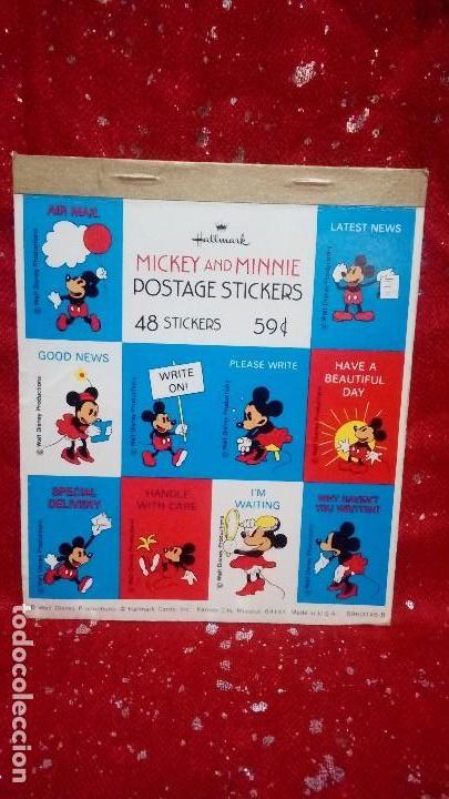 USA . STICKERS MICKEY AND MINNIE *POSTAGE STICKERS 59¢* .... WALT DISNEY . AÑOS 70. (Sellos - Extranjero - América - Estados Unidos)