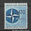 Sellos: ESTADOS UNIDOS 1959 ** NUEVO MILITAR OTAN - 4/47. Lote 160559614