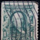 Sellos: UNITED STATES, FRANKLIN, 1 CENTS, AÑO 1903. SIN DENTAR UN LATERAL.. Lote 160866390