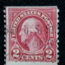 Sellos: UNITED STATES, WASHINGTON, 2 CENTS, AÑO 1932. SIN DENTAR LATERALES . Lote 160867270