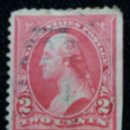 Sellos: UNITED STATES, WASHINGTON, 2 CENTS, AÑO 1894. LATERAL SIN DENTAR.. Lote 160868698