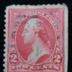 Sellos: UNITED STATES, WASHINGTON, 2 CENTS, AÑO 1894. LATERAL SIN DENTAR.. Lote 160868698