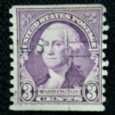 Sellos: UNITED STATES, WASHINGTON, 2 CENTS, AÑO 1925. SIN DENTAR LATERAL.. Lote 160869434