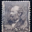 Sellos: UNITED STATES, GARFIELD, 5 CENTS, AÑO 1888. . Lote 160870190