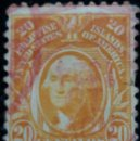 Sellos: UNITED STATES, WASHINGTON, FILIPINAS, 20 CENTS, AÑO 1906. . Lote 160870694