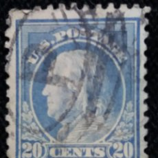 Sellos: UNITED STATES, FRANKLIN, 20 CENTS, AÑO 1908.. Lote 161283226
