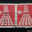 Sellos: UNITED STATES, AIR MAIL CHICAGO, 10 CENTS, AÑO 1960.. Lote 161495334