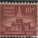 Sellos: UNITED STATES, INDEPENDENCE HALL, 10 CENTS, AÑO 1954.. Lote 161495558