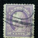 Sellos: U.S. POSTAGE, 50 CENTS, FRANKLIN, AÑO 1917.. Lote 164850342