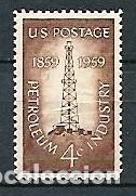 ESTADOS UNIDOS,CENTENARIO DE LA INDUSTRIA DEL PETRÓLEO,1959,NUEVO,MNH**,YVERT 673 (Sellos - Extranjero - América - Estados Unidos)