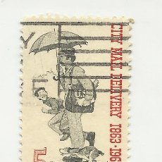 Sellos: SELLO UNITED STATES OF AMERICA. 5 CENTS. CITY MAIL DELIBERY1863-1963 STAMP EEUU. Lote 165797474