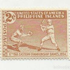 Sellos: SELLO UNITED STATES OF AMERICA. 2 C. PHILIPPINE ISLANDS. FAR EASTERN CHAMPIOSHIPS GAMES 1934 . Lote 165799022