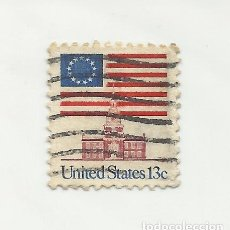 Sellos: SELLO UNITED STATES OF AMERICA. FLAG OVER INDEPENDENCE HALL 13 C. . Lote 165799546