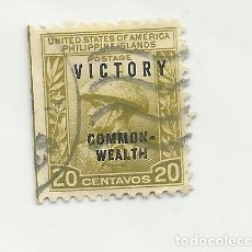 Sellos: SELLO UNITED STATES STAMP. PHILIPPINE ISLANDS. COMMONWEALT 20 CENT.. Lote 165803278