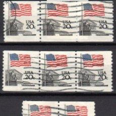 Sellos: USA / ESTADOS UNIDOS - 8 SELLOS - IT:1372A - BANDERA SOBRE LA CORTE SUPREMA (AÑO 1981) - USADOS. Lote 167095660