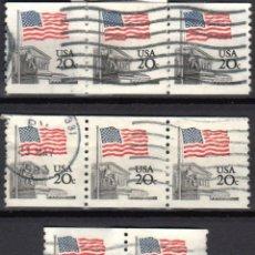 Sellos: USA / ESTADOS UNIDOS - 8 SELLOS - IT:1372A - BANDERA SOBRE LA CORTE SUPREMA (AÑO 1981) - USADOS. Lote 167095760