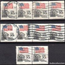 Sellos: USA / ESTADOS UNIDOS - 10 SELLOS - IT:1372A - BANDERA SOBRE LA CORTE SUPREMA (AÑO 1981) - USADOS. Lote 167096172