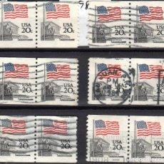 Sellos: USA / ESTADOS UNIDOS - 12 SELLOS - IT:1372A - BANDERA SOBRE LA CORTE SUPREMA (AÑO 1981) - USADOS. Lote 167097340