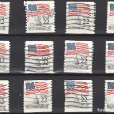 Sellos: USA / ESTADOS UNIDOS - 12 SELLOS - IT:1577A - EDICION REGULAR (AÑO 1985) - USADOS. Lote 167098292