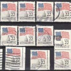 Sellos: USA / ESTADOS UNIDOS - 17 SELLOS - IT:1577 - EDICION REGULAR (AÑO 1985) - USADOS. Lote 167100032