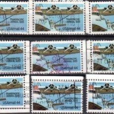 Sellos: USA / ESTADOS UNIDOS - 9 SELLOS - IT:PA109 - PIONEROS DE LA AVIACION (AÑO 1985) - USADOS. Lote 167100740