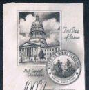 Sellos: EEUU ANIVERS. WEST VIRGINIA 1 SELLO USADO Y RECORTE SOBRE PRIMER DIA. Lote 167999372