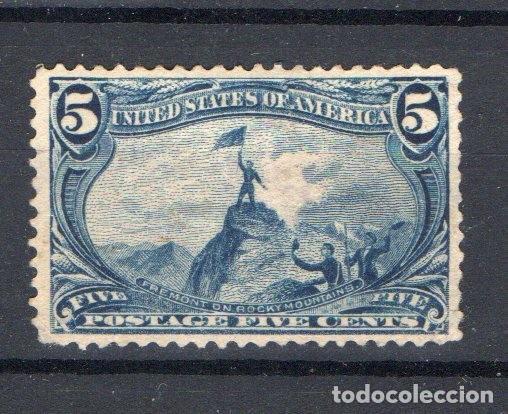 ESTADOS UNIDOS, 1898, FREMONT ON THE ROCKY MOUNTAINS, MLH, CON CHANELA, VALOR CATALOGO 160 EUROS (Sellos - Extranjero - América - Estados Unidos)