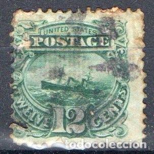 ESTADOS UNIDOS, 1869, YVERT 34, USADO, VALOR CATALOGO 150 EUROS (Sellos - Extranjero - América - Estados Unidos)