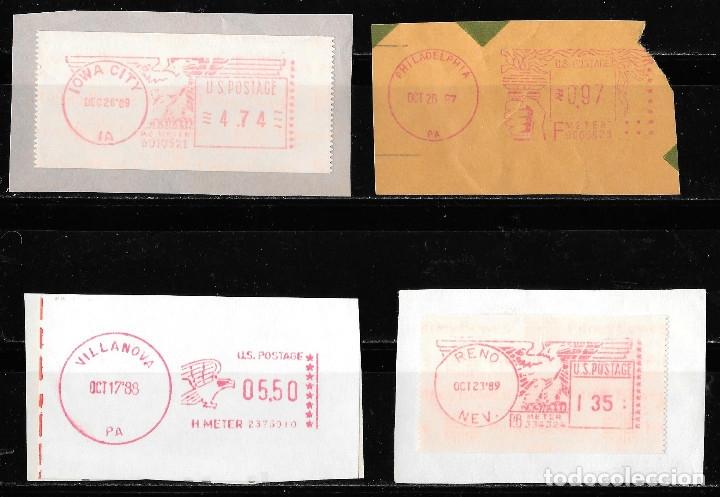 FRANQUEO MECANICO U.S. POSTAGE 1987/89 (IOWA, PHILADELPHIA, VILLANOVA, RENO) (Sellos - Extranjero - América - Estados Unidos)