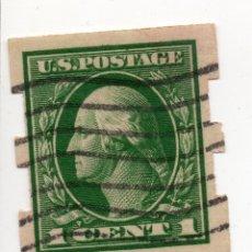 Sellos: 1 CENT 1920 GEORGE WASHINGTON, PERFORACIÓN PRIVADA. RARO. Lote 176254979