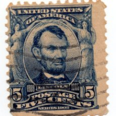 Sellos: SELLO 5 CENTS ABRAHAM LINCOLN 1902. Lote 176308904