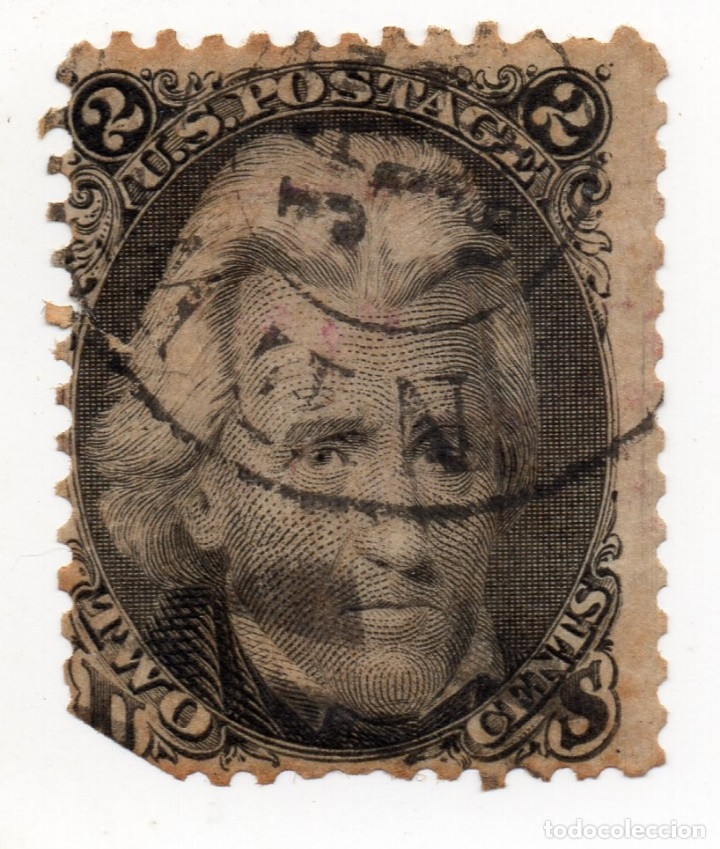 SELLO 2 CENT ANDREW JACKSON, 1867 (Sellos - Extranjero - América - Estados Unidos)