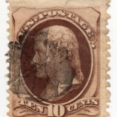 Sellos: SELLO 10 CENTS THOMAS JEFFERSON 1879. Lote 176591230
