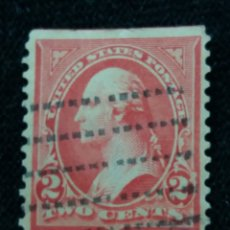 Sellos: U.S. POSTAGE, 2 CENTS, WASHINGTON, 12 PERFOR, 1898, SIN USAR. Lote 177065887