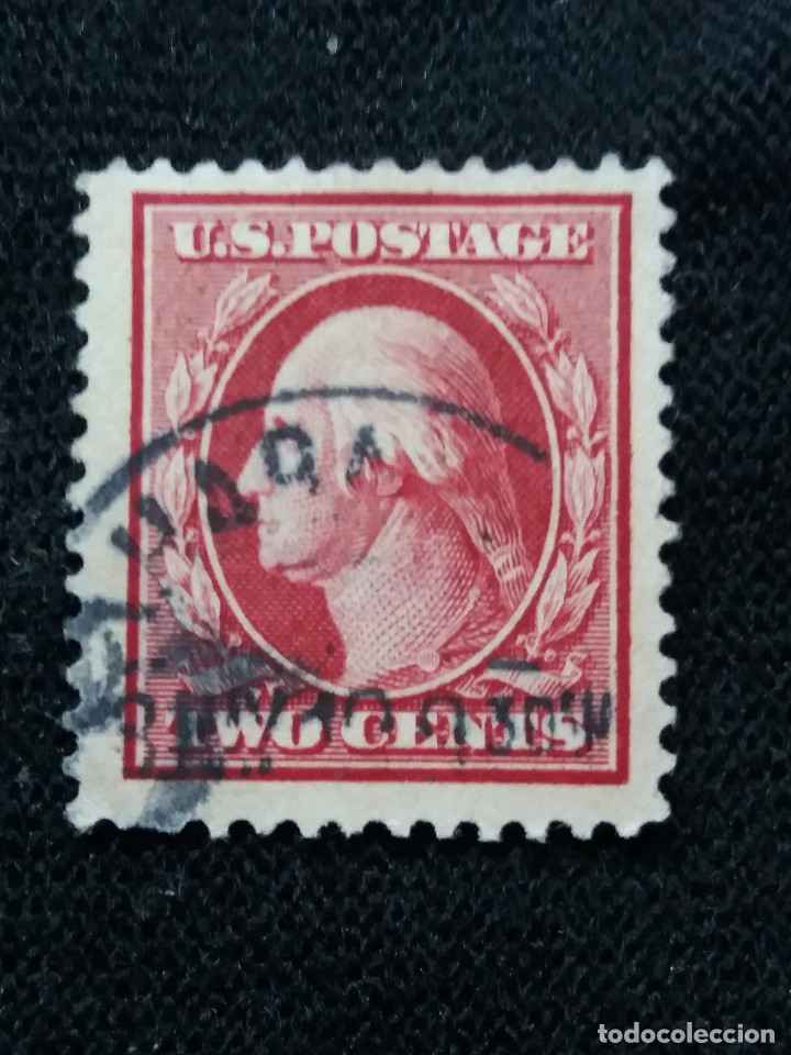 U.S. POSTAGE, 2 CENTS, WASHINGTON, 12 PERFOR, 1910, SIN USAR (Sellos - Extranjero - América - Estados Unidos)