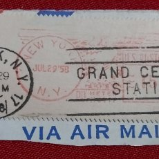 Sellos: SELLO US POSTAGE NEW YORK 1958 GRAND CENTRAL STATION. Lote 177840133