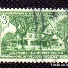Sellos: ESTADOS UNIDOS: 1953 CASA DE THEODORE ROOSEVELT EN OYSTER YVERT N.574 USADO. Lote 178350701