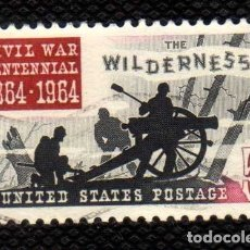 Sellos: ESTADOS UNIDOS: 1964 CENT. BATALLA WILDERNESS N.761 USADO. Lote 178350873