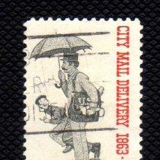 Sellos: ESTADOS UNIDOS: 1963 CENT.DISTRIBUCION POSTAL ADOMICILIO N.754 USADO. Lote 178351170