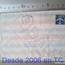 Sellos: TUBAL SOBRE USA CORREO AEREO 1960 CHICAGO NUEVA YORK ENVIO 70 CENT 2019 T1. Lote 179161976