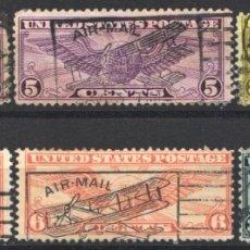 Sellos: ESTADOS UNIDOS, AÉREO 1930-39 YVERT Nº 12, 12A, 15A, 16, 25, . Lote 179203883