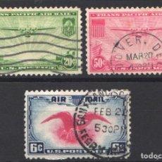 Sellos: ESTADOS UNIDOS, AÉREO 1937-38 YVERT Nº 22 / 23, 24, . Lote 179203937