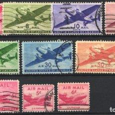 Sellos: ESTADOS UNIDOS, AÉREO 1941-49 YVERT Nº 26 / 32, 33, 34 / 35, . Lote 179203967
