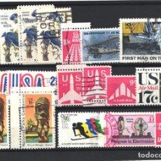 Sellos: ESTADOS UNIDOS, AÉREO 1967 - 1973 LOTE DE SELLOS USADOS. . Lote 179204017