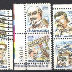 Sellos: ESTADOS UNIDOS, AÉREO 1978-79 YVERT Nº 85 / 86, 87 / 88, 90 / 91, . Lote 179204056