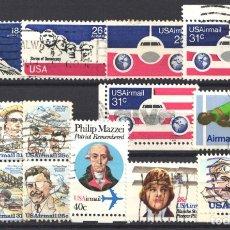 Sellos: ESTADOS UNIDOS, AÉREO 1974 - 1980 LOTE DE SELLOS USADOS . Lote 179204070