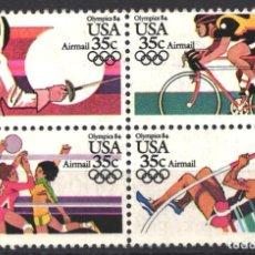 Sellos: ESTADOS UNIDOS, AÉREO 1983 YVERT Nº 103 / 106 . Lote 179204118