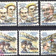 Sellos: ESTADOS UNIDOS, AÉREO 1978 YVERT Nº 85, 86, 87, 88, . Lote 179204166