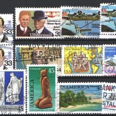 Sellos: ESTADOS UNIDOS, AÉREO 1985 - 1990 LOTE DE SELLOS USADOS . Lote 179204258