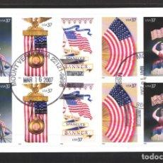 Sellos: ESTADOS UNIDOS, 2003 YVERT Nº 3469 / 3473, CARNET. . Lote 179336131